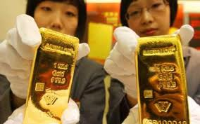 china gold, gold bars