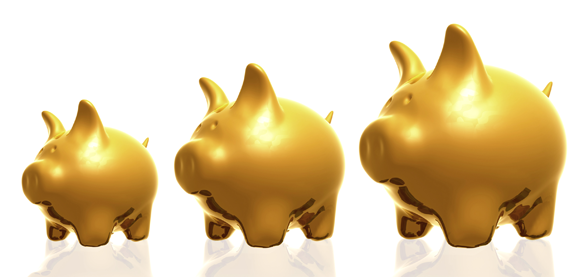 American Bullion Three Golden Piggies