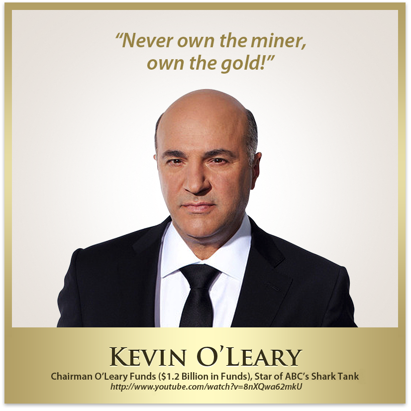 shark tank, kevin o'leary, gold quotes, gold stock
