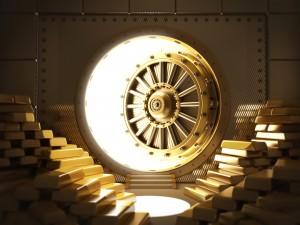 gold vault, gold bars, gold reserve