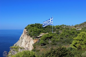 greek-flag-cliff