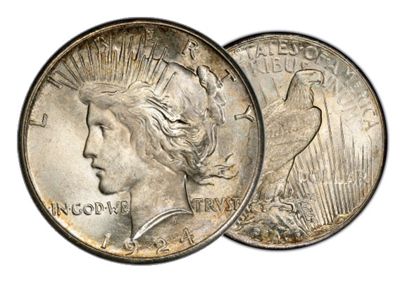 about peace silver dollar coins